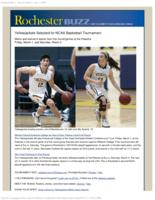 Rochester Buzz (February 26, 2013) Special Edition: Yellowjacket Basketball Teams Selected for National Tournament