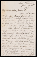 Signed letter from Booth to Russell, 1871