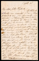 Signed letter from Booth to Russell, undated