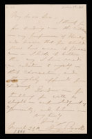 p.3 Signed letter from Booth to Russell, 1864