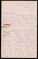 p.1 Signed letter from Booth to Russell, 1874