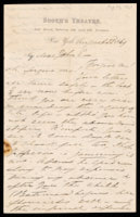 p.1 Signed letter from Booth to Russell, 1869
