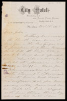Signed letter from Booth to Russell, 1873