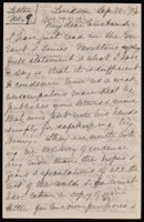 Letter from Isabella Beecher Hooker to John Hooker, September 10, 1874