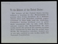 """To the Editors of the United States"", Undated"