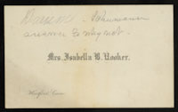 Isabella Beecher Hooker to Ellen Clark Sargent, March 13, 1878