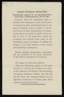 Copies of Woman Suffrage Resolution, October 21, 1871