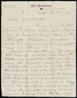 Susan B. Anthony to Isabella Beecher Hooker, October 31, 1870