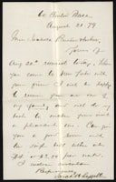 Sarah H. Leggett to Isabella Beecher Hooker, August 21, 1879