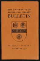 University of Rochester Library Bulletin, v. 1, no. 1
