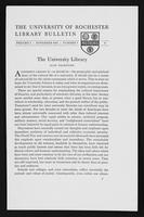 p.3 University of Rochester Library Bulletin, v. 1, no. 1