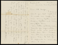 Correspondence from Charlotte Perkins Gilman to Martha Allen Luther Lane, August 12, 1884