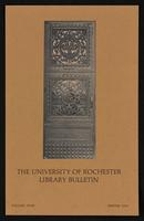 University of Rochester Library Bulletin, v. 32