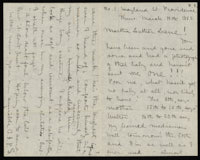 Correspondence from Charlotte Perkins Gilman to Martha Allen Luther Lane, March 19, 1885