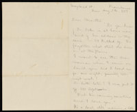 Correspondence from Charlotte Perkins Gilman to Martha Allen Luther Lane, August 7, 1884