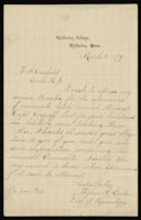 Maria S. Eaton to F. A. Canfield
