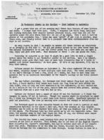 Newsletter to University Men in the Service (September 18, 1942)