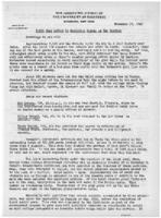 Newsletter to University Men in the Service (November 17, 1942)