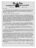 Newsletter to University Men in the Service (August 9, 1943)