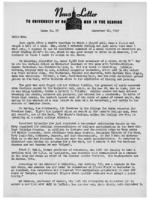 Newsletter to University Men in the Service (September 20, 1943)