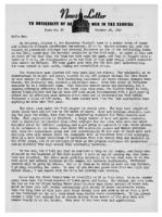 Newsletter to University Men in the Service (October 18, 1943)