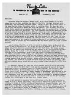 Newsletter to University Men in the Service (November 1, 1943)