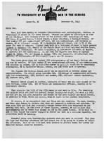 Newsletter to University Men in the Service (November 29, 1943)