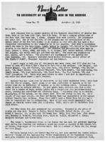 Newsletter to University Men in the Service (December 13, 1943)