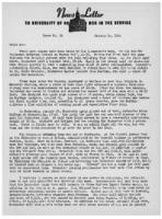 Newsletter to University Men in the Service (January 24, 1944)
