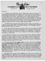 Newsletter to University Men in the Service (February 21, 1944)