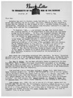 Newsletter to University Men in the Service (March 6, 1944)