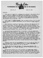 Newsletter to University Men in the Service (March 20, 1944)