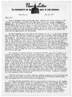 Newsletter to University Men in the Service (May 15, 1944)