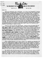 Newsletter to University Men in the Service (May 29, 1944)