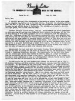 Newsletter to University Men in the Service (July 10, 1944)