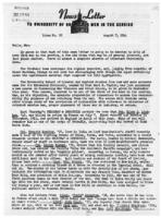 Newsletter to University Men in the Service (August 7, 1944)