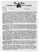 Newsletter to University Men in the Service (August 21, 1944)