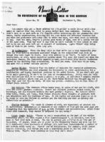 Newsletter to University Men in the Service (September 6, 1944)