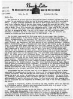 Newsletter to University Men in the Service (September 18, 1944)