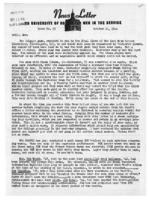 Newsletter to University Men in the Service (October 16, 1944)