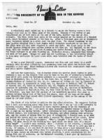 Newsletter to University Men in the Service (November 13, 1944)