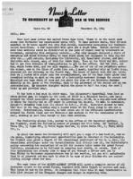 Newsletter to University Men in the Service (December 26, 1944)