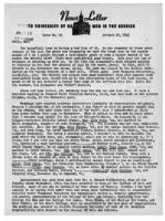 Newsletter to University Men in the Service (January 22, 1945)
