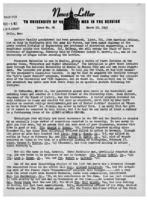Newsletter to University Men in the Service (March 19, 1945)