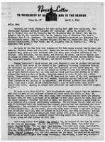 Newsletter to University Men in the Service (April 2, 1945)