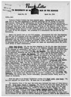 Newsletter to University Men in the Service (April 16, 1945)