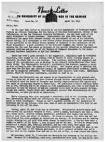 Newsletter to University Men in the Service (April 30, 1945)