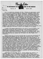 Newsletter to University Men in the Service (May 14, 1945)