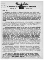 Newsletter to University Men in the Service (May 28, 1945)