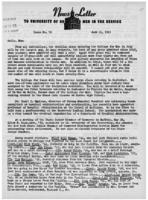 Newsletter to University Men in the Service (June 11, 1945)